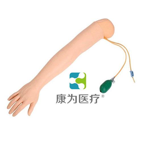 """""""康为医疗""""静脉注射操作手模型(带底座) 产品说明: 模型为一成人手部,完整的手背静脉网,腕关节可像真人一样弯曲摆成穿刺体位 采用高分子材料制成,环保无污染,肤质仿真度高,皮肤纹理清晰 静脉注射:可选择不同类型的穿刺针进行训练,穿刺时有落空感,穿刺正确后可有回血,并可进行输液等练习 可反复进行练习 血管和皮肤均可更换 技能介绍: 静脉注射"""